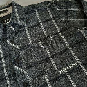 Billabong Plaid Flannel Shirt